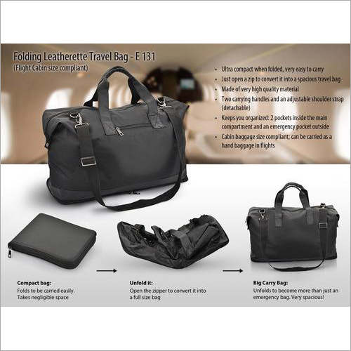 Folding Leatherette Bag (Flight Cabin Size Com) – E131