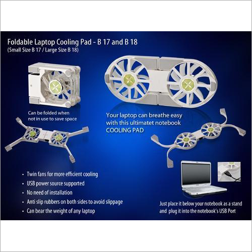 Folding Laptop Stand with USB Fan