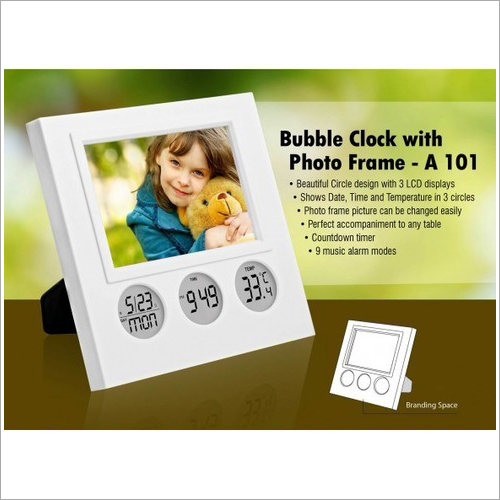 A101 – Bubble Clock With Photo Frame