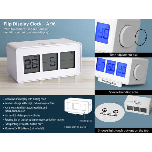 A96 – Flip Display Clock with Touch Light / Snooze Function