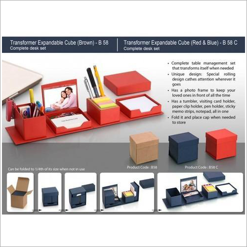 Transformer Expandable Cube: Complete Desk Set – Brown