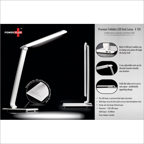Power Plus Premium Foldable LED Desk Lamp (with touch) – E-124