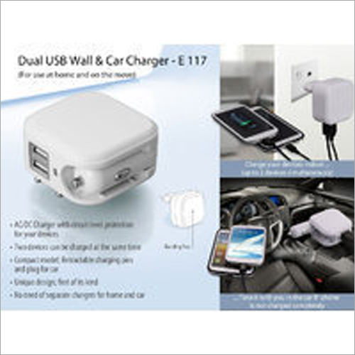 Wall And Car Charger – Dual USB – E117