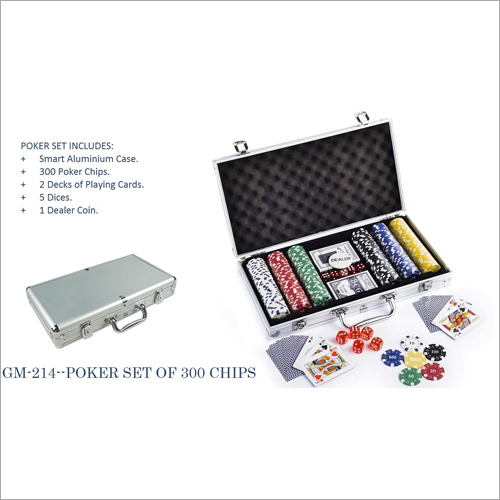 Poker set of 300 chips