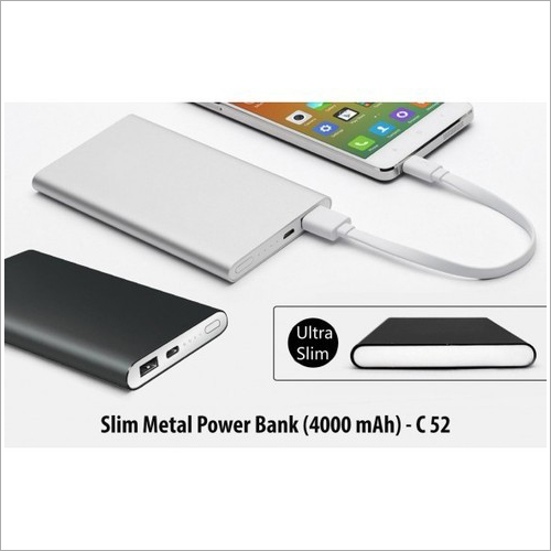 Slim Metal Power Bank (4000 Mah) C-52