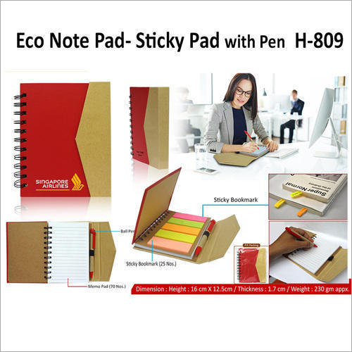 Eco Cube Sticky Memo Pad With Stationery Holder – H – 809