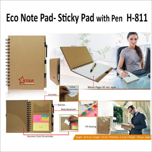 Eco Cube Sticky Memo Pad With Stationery Holder – H – 811