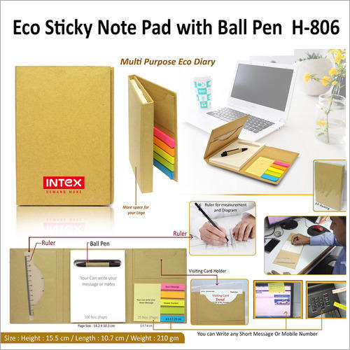 Eco Cube Sticky Memo Pad With Stationery Holder – H – 806