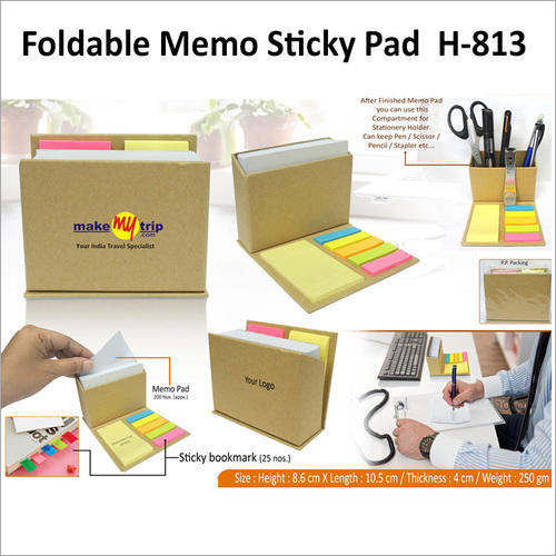 Foldable Memo Sticky Pad – H – 813