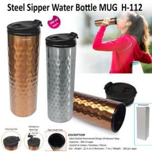 Corporate Gifting - Steel Sipper Water Bottle MUG - H - 112