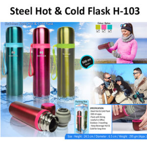 Corporate Gifting - Steel Hot & Cold Flask - H - 103
