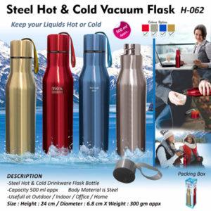 Corporate Gifting - Steel Hot & Vacuum Flask - H - 062
