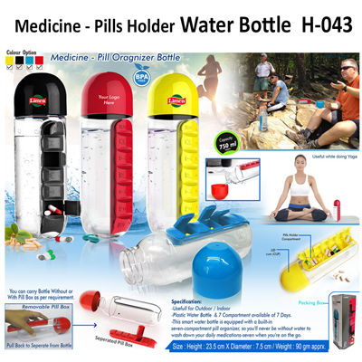 Pills holder Water Bottle-043