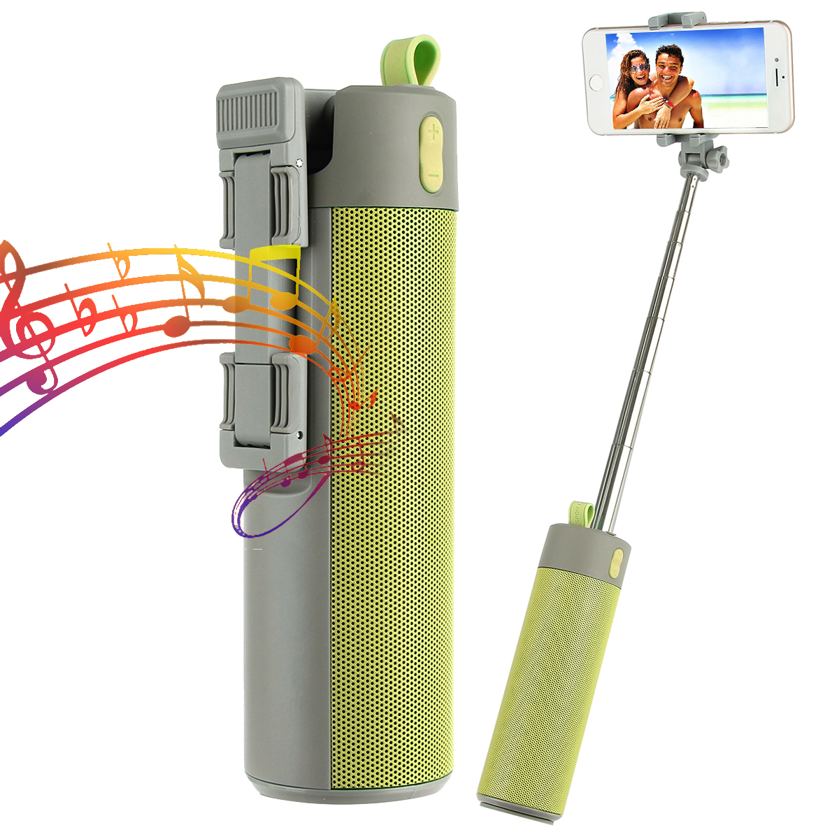 Bluetooth Speaker with Power bank & selfie Stick SUB USB – S112